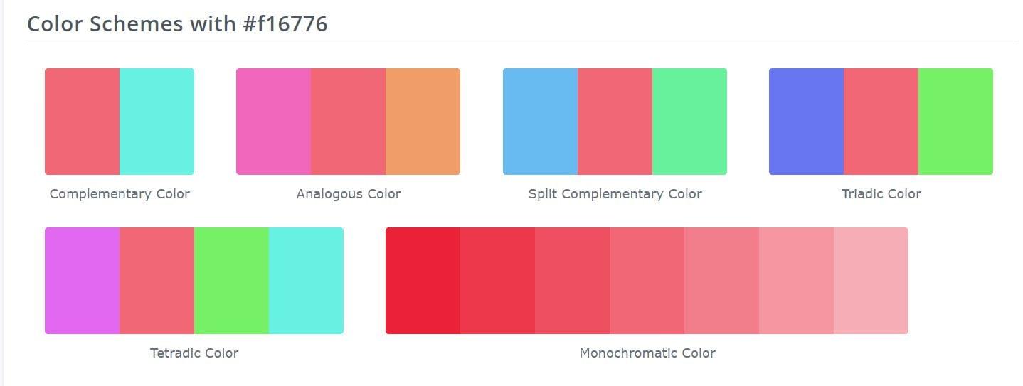 Color suggestor