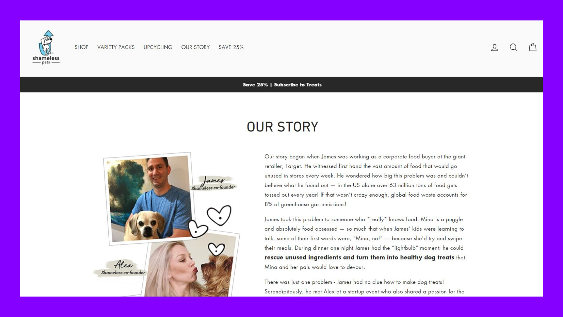 Shameless Pets Our Story page with background.JPG