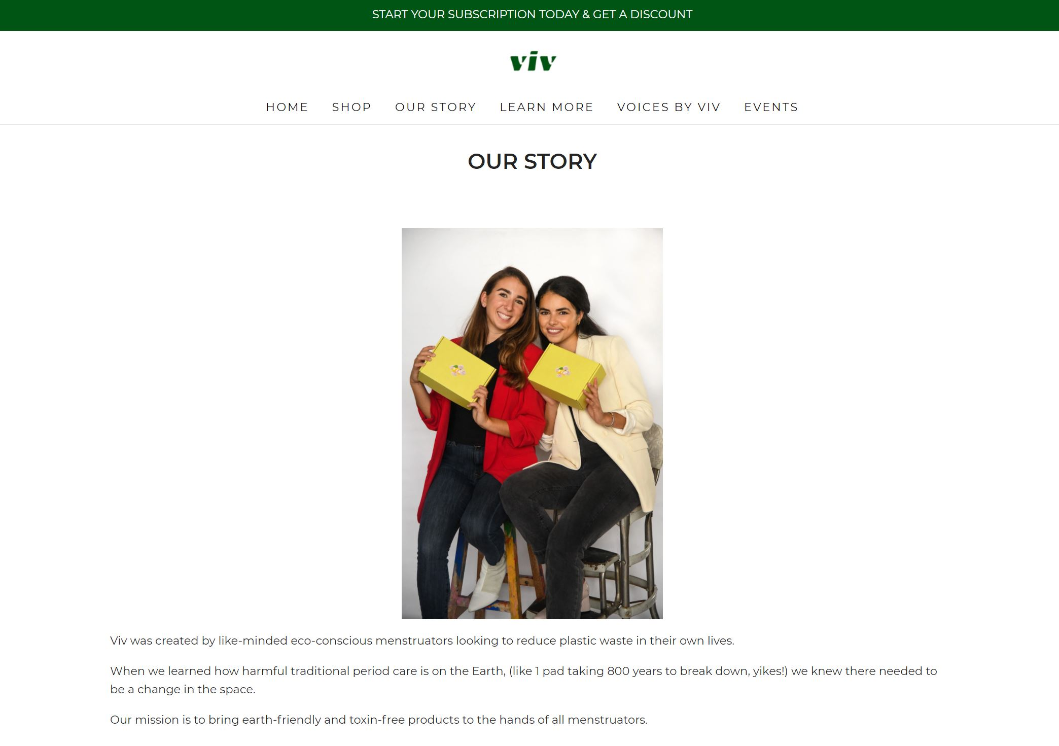 Viv Our Story Page